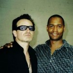 Bono from u2 with Tony from the havana club trio
