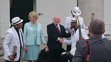 Havana Club Trio meet the President of Ireland