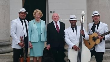 Havana Club Trio meet the President of Ireland