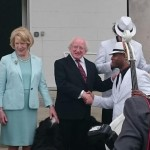 havana club trio with president of ireland